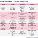 Autumn Term 2021 Co Curricular Timetable Ks3