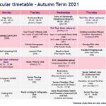 Autumn Term 2021 Co Curricular Timetable Ks4